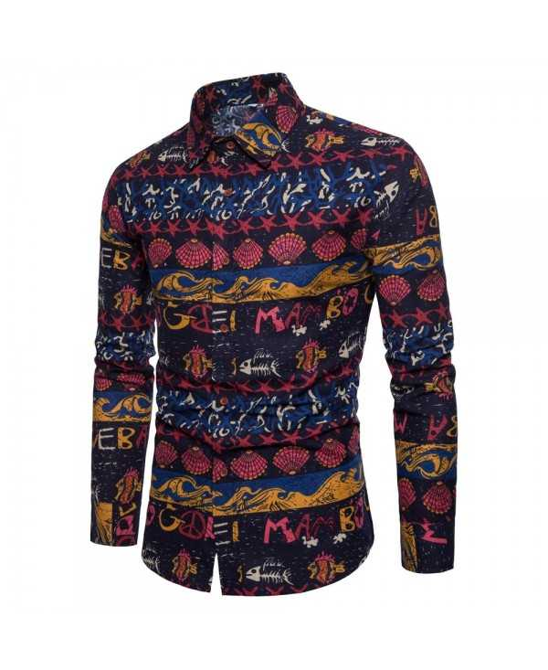 Men's Ethnic Style Men'S Long Sleeve Shirt