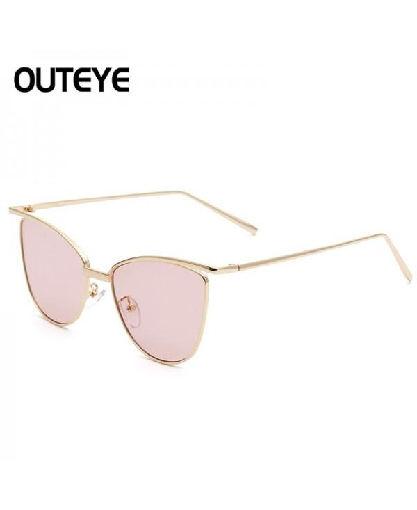 Unisex Women Gold Retro Cat Eye Sunglasses Classic Vintage Fashion Shades GG