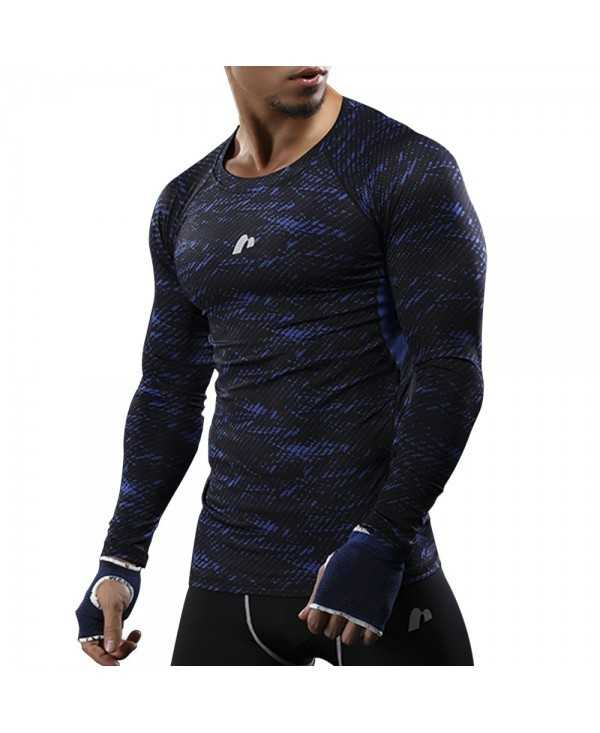 Camouflage Openwork Panel Quick Dry Gym T-shirt