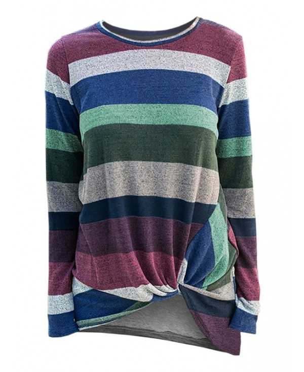 Striped Twist Front Knitwear
