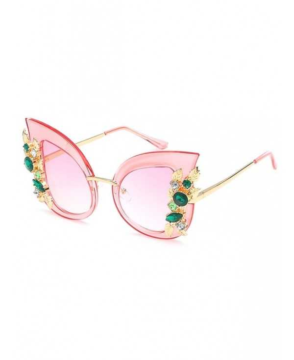 Unique Shiny Rhinestone Inlaid Butterfly Sunglasses