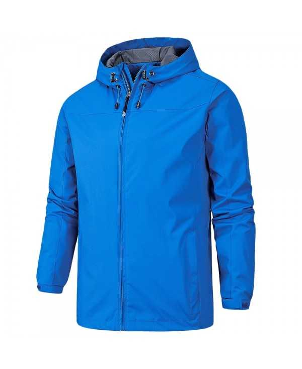 Male Clothes Casual Hooded Windbreaker Outdoor Running Men's Jacket