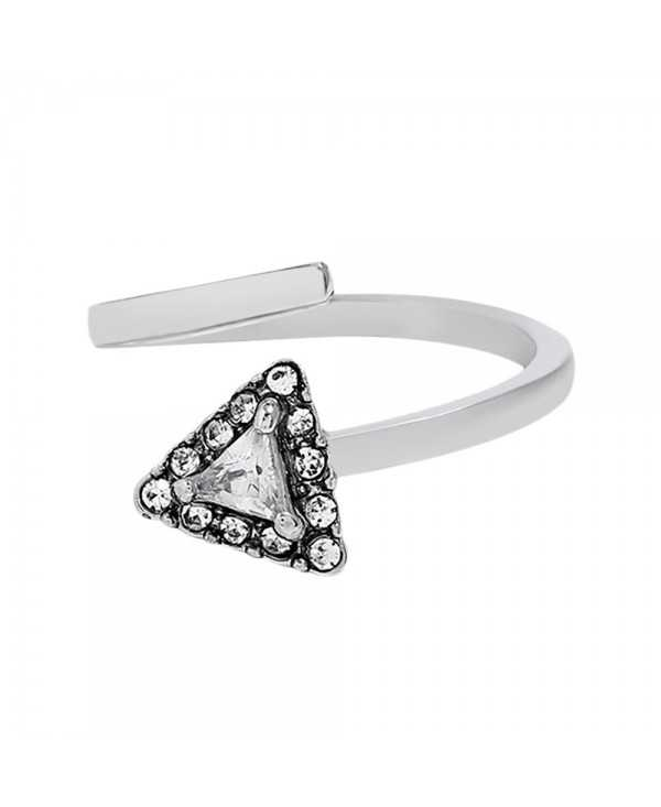 Rhinestone Triangle Shape Finger Cuff Ring