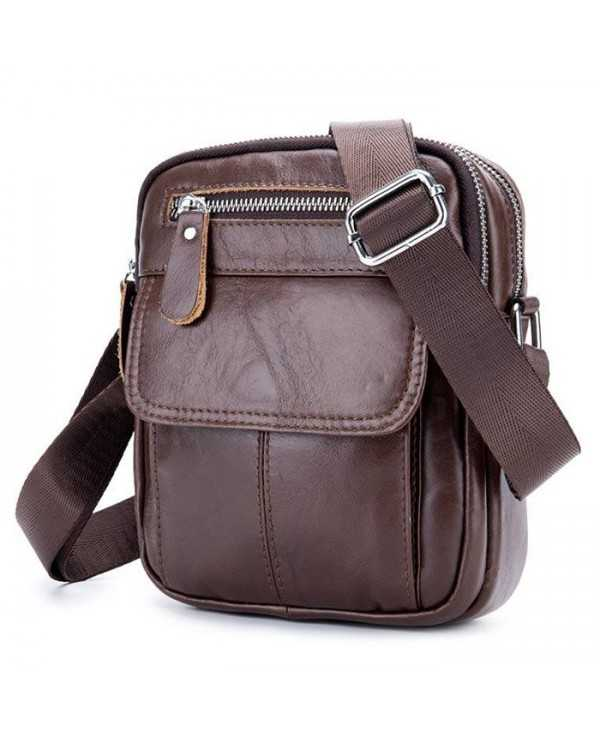 BULLCAPTAIN Casual Genuine Leather Shoulder Bag for Men
