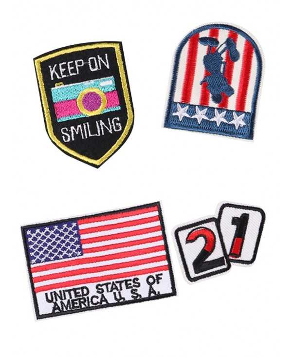 4PCS American Flag Star Design Embroidered Patches