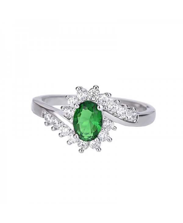 Creative Artificial Diamond Crystal Zircon Ring