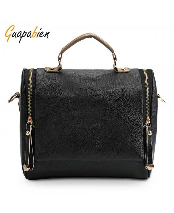 Guapabien Vintage Female PU Leather Shoulder Crossbody Bag for Women