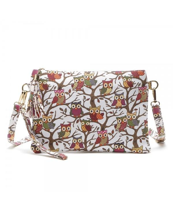Cartoon Owl Printed Small Crossbody Bag