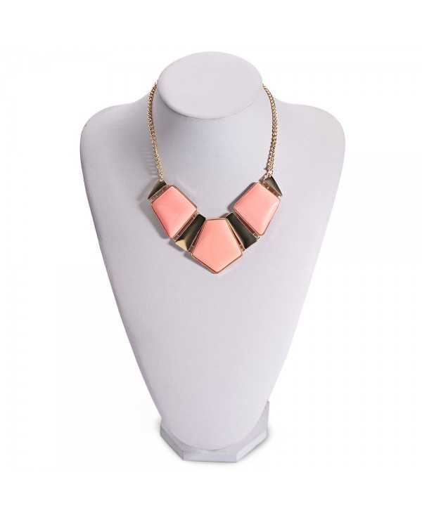 Women Stylish Candy Color Spliced Necklace
