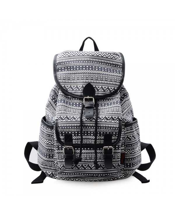 DouGuYan Casual Canvas College School Cute Backpack for Women Girl G00265