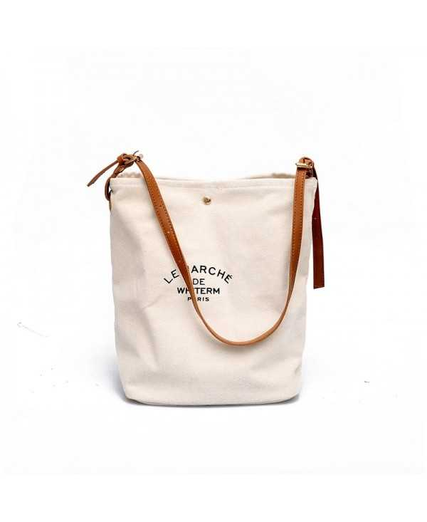 Stylish Canvas High-Capacity Single-Shoulder Straddle Bag for Ladies