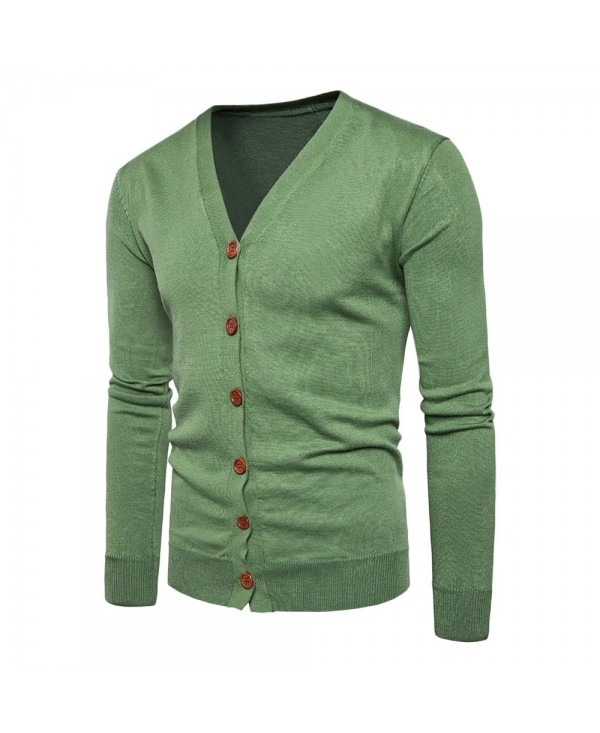 V Neck Knitting Button Up Cardigan