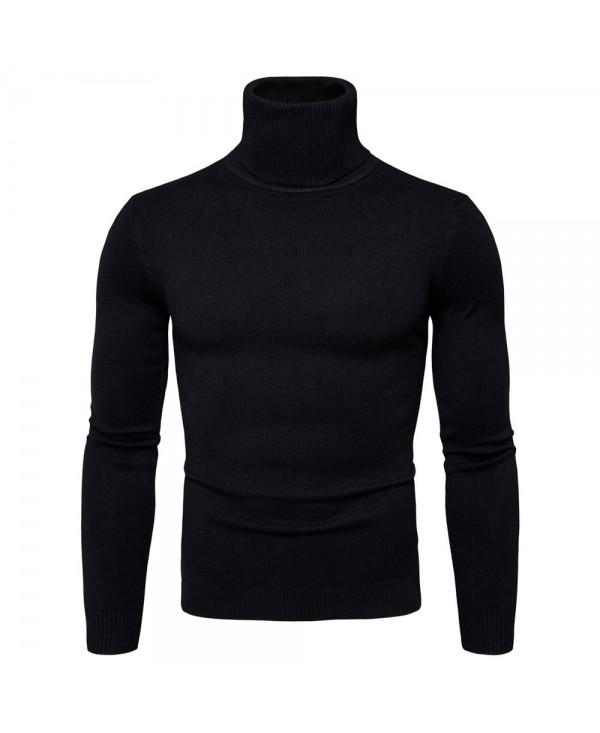 New Men's High Collar Sweater