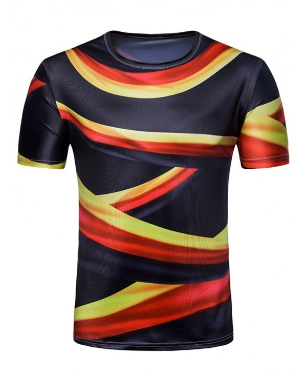 Allover German Flag Print Crew Neck T-shirt
