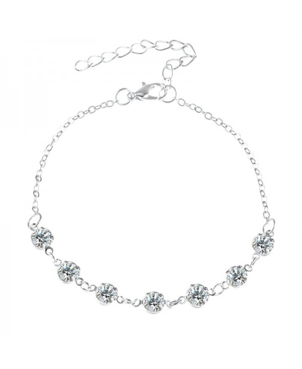 Fashionable Simple Lady Crystal Anklet