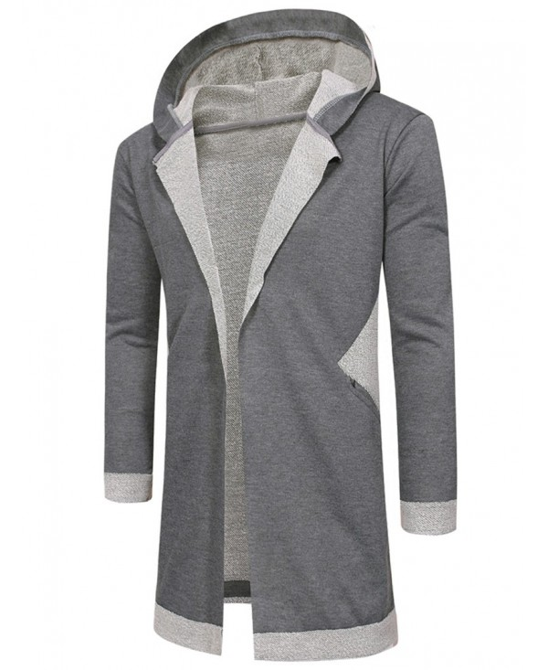 Unbuttoned Long Hooded Cardigan