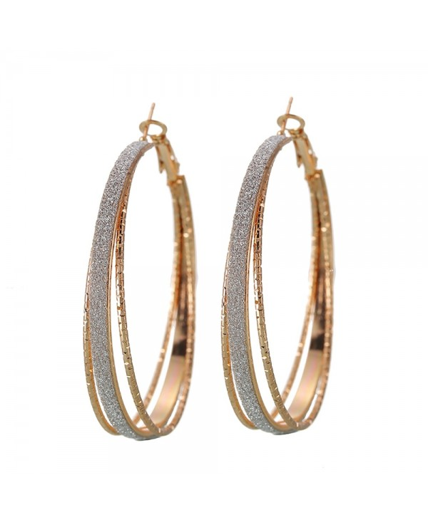 Vintage Gold Multi-Layer Hoop Earrings Are Great for Party Jewelry
