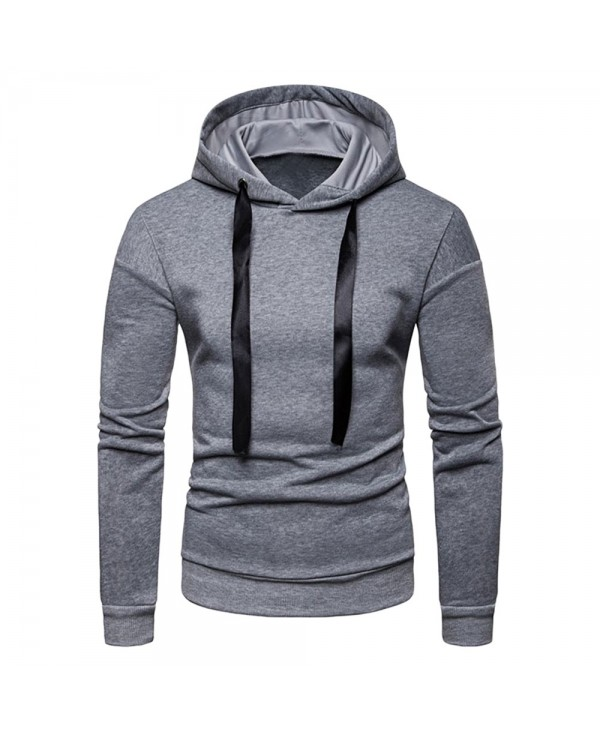 Long Sleeve Hooded Collar Pullover Men Sweatshirt