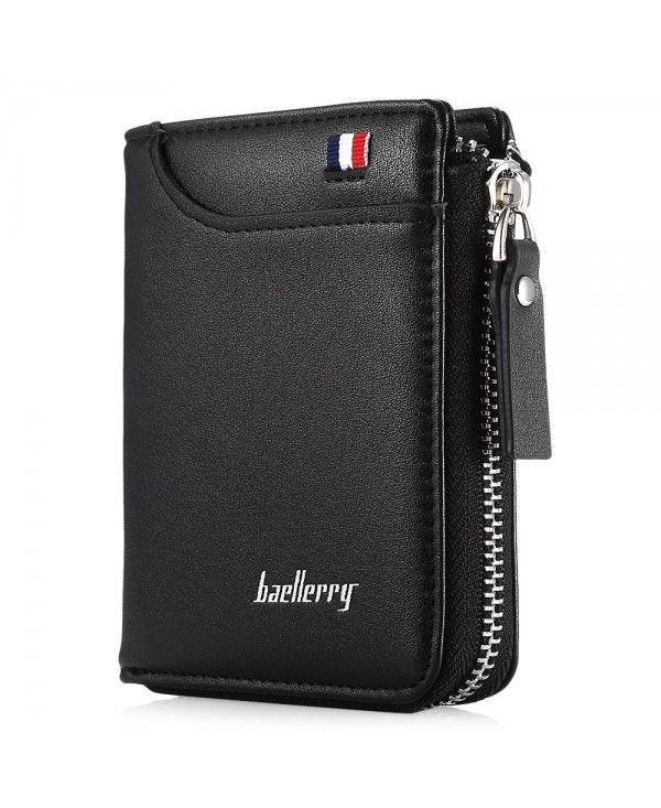 Baellerry Men Wallet Short Section Soft PU Leisure Folder Bag