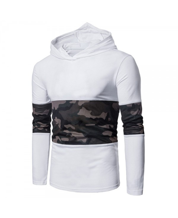 Hooded Mesh Camouflage Panel T-shirt