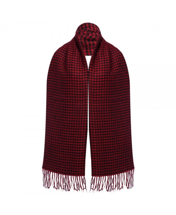 Oversize Tassel Decoration Lattice Design Ladies Warm Scarf