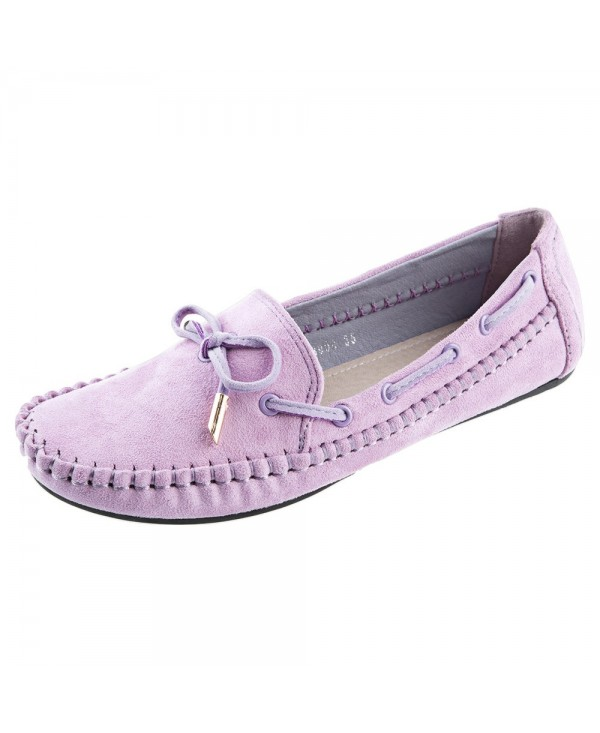 Ladies Handwork Bowknot Design Round Toe Flat Shoes