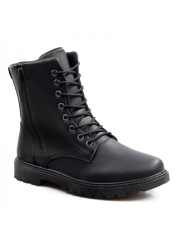 Autumn and Winter Zipper Wild High Casual Shoes Men Plus Velvet Boots