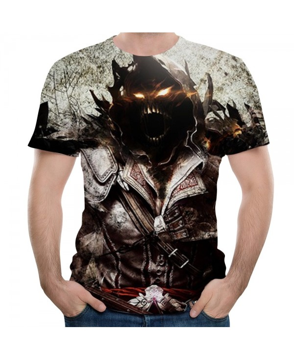 Summer New Style Men's Casual Trend 3D Printing Short-Sleeved T-shirt
