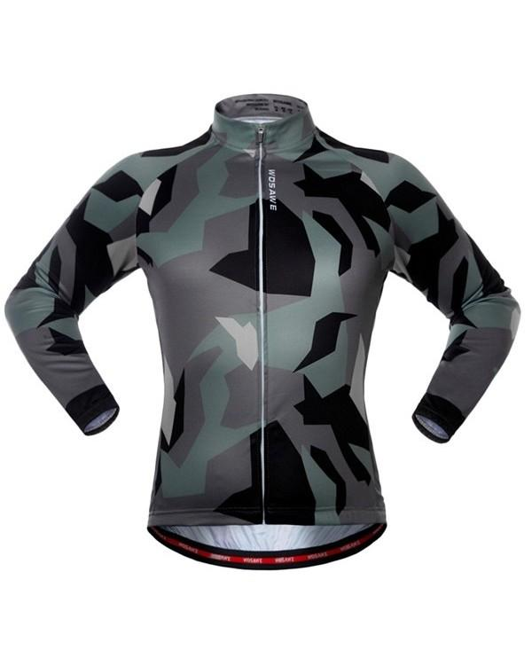 Breathable Camouflage Sport Long Sleeve Cycling Jersey