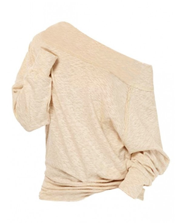 Off The Shoulder Long Sleeve Solid Top