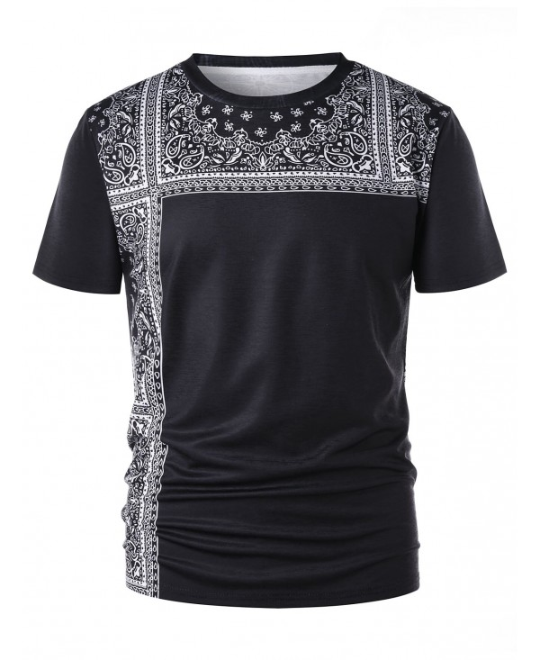 Short Sleeves Tribal Print Tee