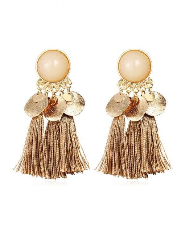 Bohemian Disc Tassels Earrings