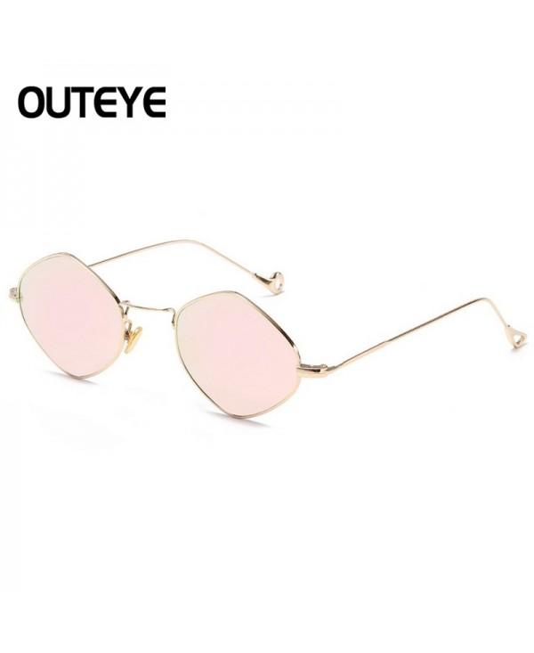 Women Flat Lens Mirrored Metal Frame Glasses Oversized Cat Eye Sunglasses