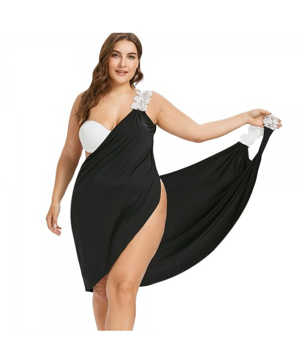 Plus Size Lace Straps Cover-up Dress