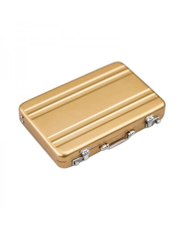 Mini Aluminum Safe Suitcase Briefcase Business Credit Bank Card Holder Box Case