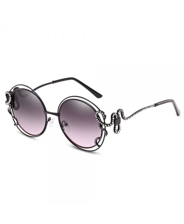 UV400 Double Round Diamond Hollow-out Sunglasses for Women