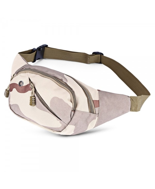 Men Tactical Canvas Waist Pack Hip Belt Bag