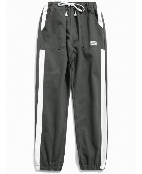 Applique Side Striped Jogger Pants