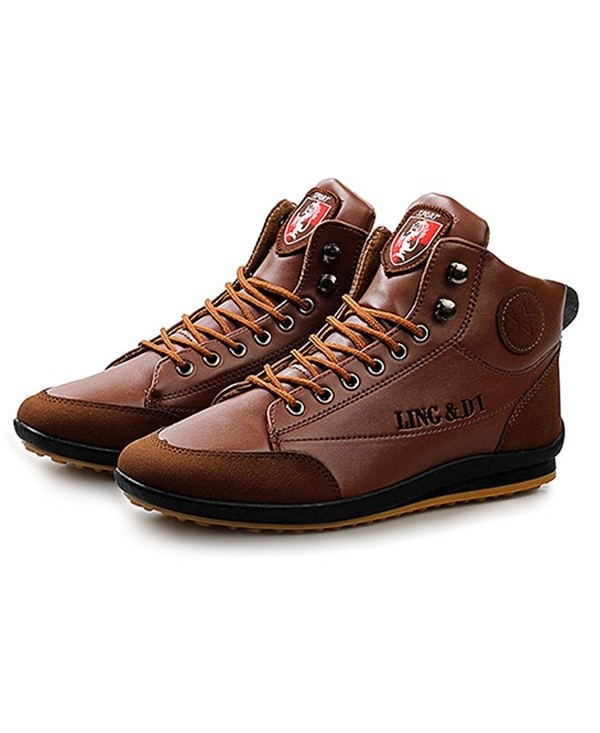 Stylish Warmest Soft Ankle Casual Leather Shoes for Men