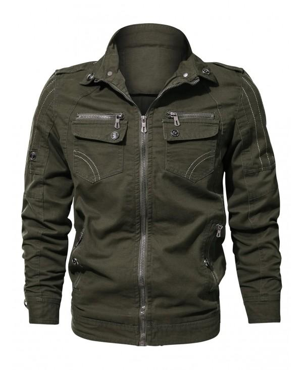 Zipper Pocket Turndown Collar Jacket