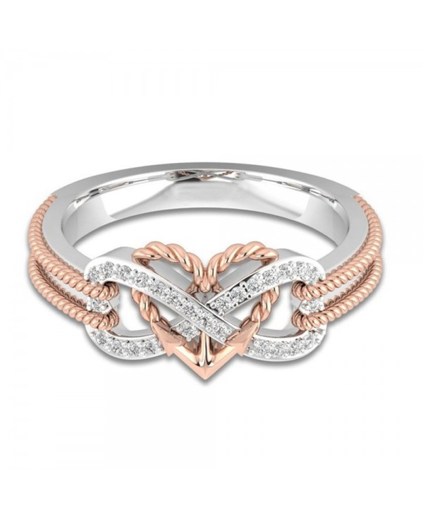 Heart Shaped Cross Couple Ring