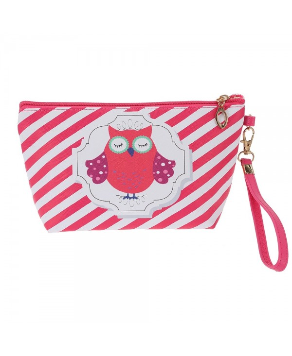 Waterproof Zipper Cartoon Owl Makeup Cosmetic Bag