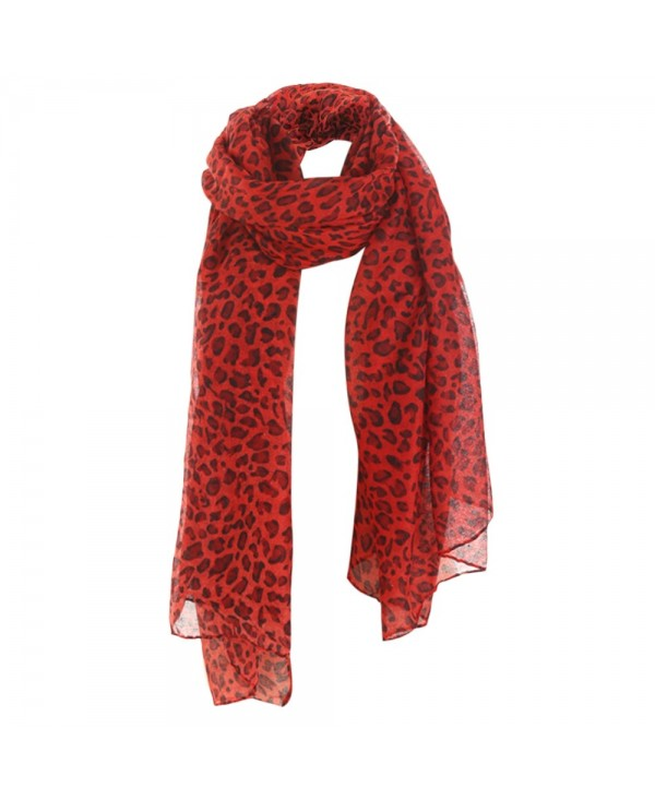 Stylish Leopard Print Lightweight Shawl Long Scarf for Women