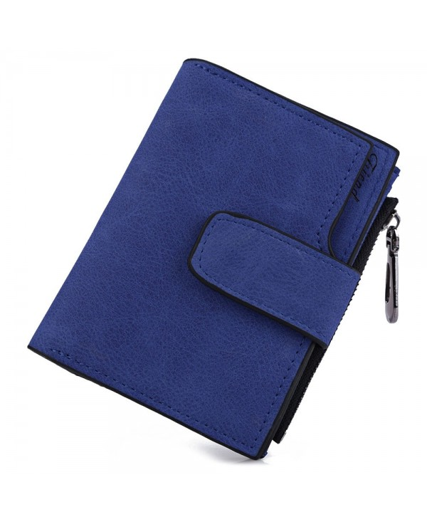Guapabien Solid Color Letter Snap Fastener Zipper Short Clutch Wallet for Lady