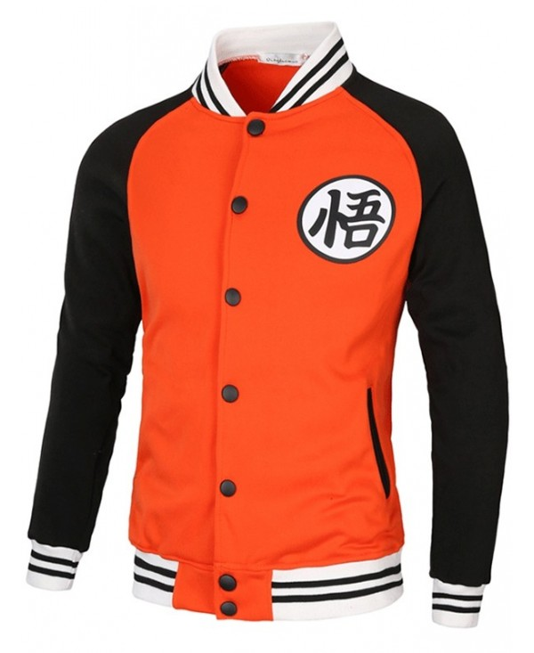 Stylish Contrast Color Long Sleeve Sports Jacket for Men