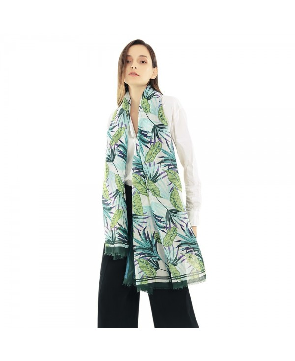 Female Print Soft Lady Fringed Scarf Women Wide Long Shawl Wrap