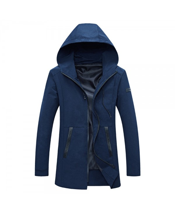 Casual Hooded Long Sleeve Zipper Men Jacket