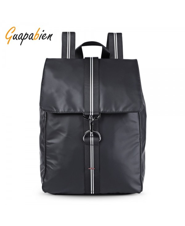 Guapabien Large Capacity Leisure Business Microfiber Leather Travel Backpack