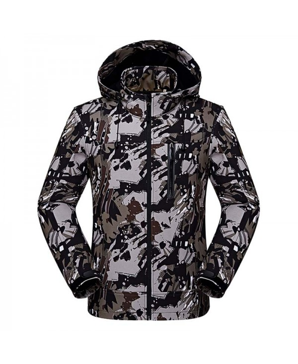 Men's Camouflage Winter Outdoor Coat Water Resistant Windproof Ski Jackets