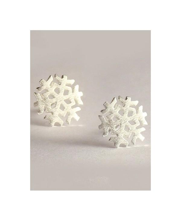 Snowflake Stud Tiny Earrings